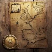 Фотообои Старинные карты 8-020
