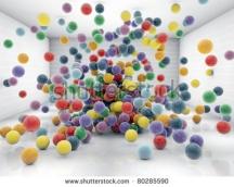 Фотообои 3Д 80285590 шарики